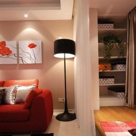 简约风格三居室富裕型客厅地台沙发婚房设计图纸效果图