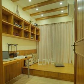书房实木榻榻米地台装修效果图欣赏效果图