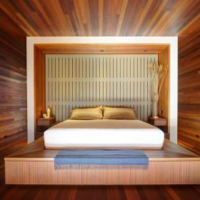 实木榻榻米地台床装修效果图