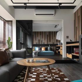 混搭风格客厅地台设计效果图欣赏