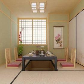 三居室欧式风格餐厅榻榻米_榻榻米地台餐厅