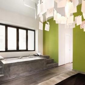 公寓欧式风格二居室卧室地台床效果图