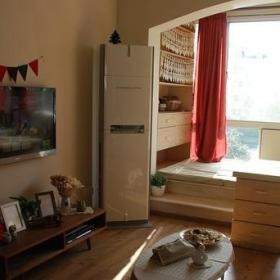 小户型客厅地台窗帘图片效果图