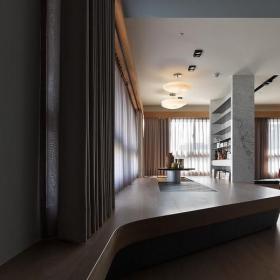 三居混搭风格客厅地台设计效果图大全