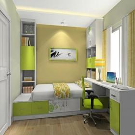 清新风格卧室榻榻米地台装修效果图清新风格榻榻米床图片