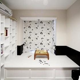 簡約風格二居室5-10萬70平米地臺書架新房設計圖