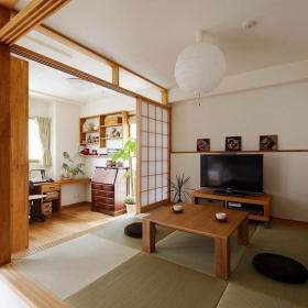 日式家装榻榻米地台效果图