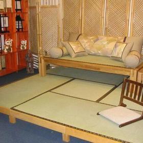 实木沙发家居摆件博古架日式榻榻米床小户型榻榻米地台装修图片效果图欣赏