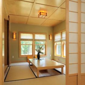 日式客厅阳台地台设计效果图大全