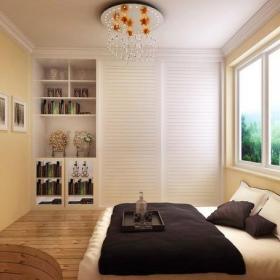 榻榻米地台照片墙两室一厅现代简约风格卧室装修效果图现代简约风格地台装修图片