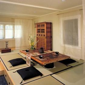 储物柜茶室实木家具地台日式茶几小户型榻榻米地台装修图片效果图