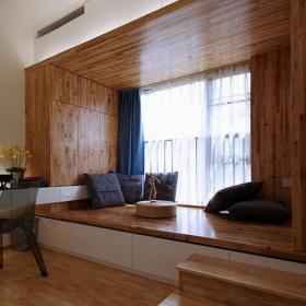 书房实木榻榻米地台装修效果图