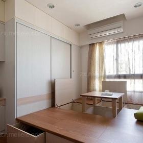榻榻米日式创意生活用品衣柜增加收纳空间的飘窗地台设计效果图