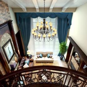 别墅美式风格客厅地台_山水设计乔治庄园客厅