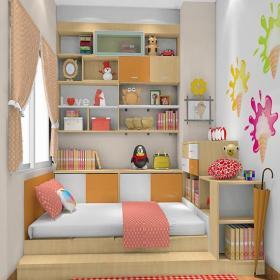 简约风格儿童房榻榻米地台装修效果图简约风格榻榻米床图片
