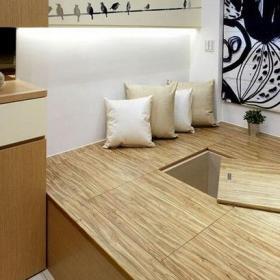 实木家具日式风格小户型榻榻米地台装修图片装修效果图