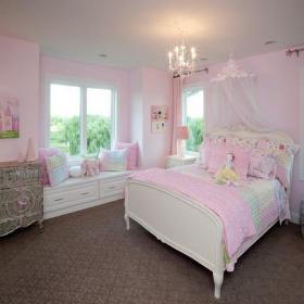 台灯灯具吊灯欧式家具欧式风格女生卧室榻榻米地台装修效果图欧式风格床图片