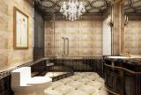壁灯吊灯淋浴房吊顶淋浴房卫生间吊顶408㎡联排别墅新古典风格卫生间装饰画装修效果图新古典风格面盆柜图