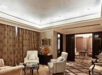 新古典风格三室一厅黑白主卫生间带浴缸镜子黑白瓷砖室内装修图片效果图