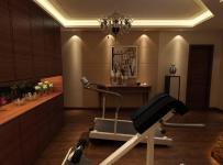 中式中式风格健身房装修案例效果图