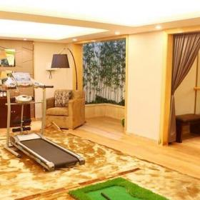 书柜酒柜吧台地下室健身房平面图效果图