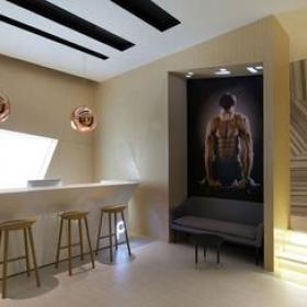 簡約風格健身房吧臺裝修圖片-簡約風格吧臺椅圖片