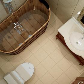 新古典风格三居室卫生间屏风储物柜装修效果图大全