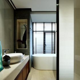 中式新古典样板房卫生间装修图片装修效果图