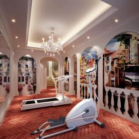 歐式別墅地下室健身房裝修效果圖