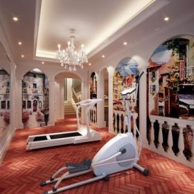 地中海風格地下室健身房裝修圖片-地中海風格吊燈圖片