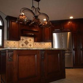 新古典风格三层小别墅新古典卫生间餐桌桌布效果图