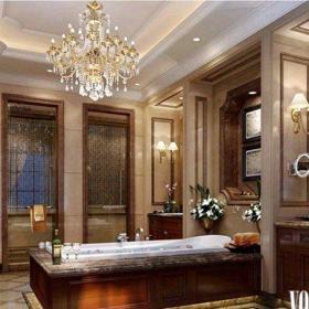 新古典风格四居室卫生间屏风储物柜装修效果图大全