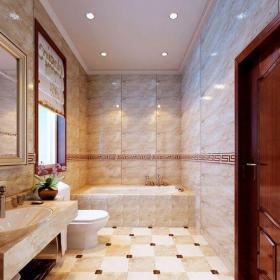新古典风格别墅卫生间屏风储物柜装修效果图大全