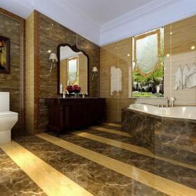 照片墙新古典风格卫生间装修效果图新古典风格浴室柜图片