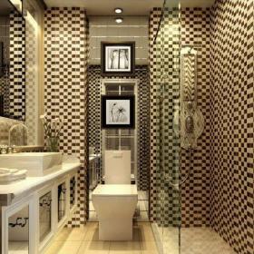 歐式新古典3平米衛生間洗手盆裝修設計效果圖