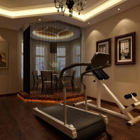 中式中式风格健身房装修效果展示效果图