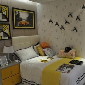 儿童房卧室精装房图片