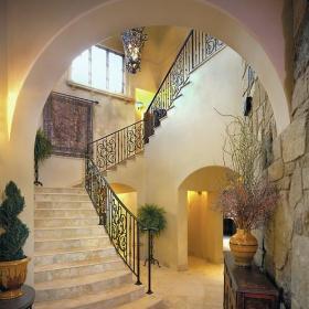 藝術度假別墅新古典衛生間別墅樓梯設計效果圖