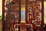 雕花隔断书桌实木家具回归灵魂的禅意中式书房效果图大全