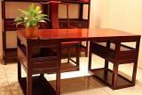 沙發書桌實木家具中式風格書房裝修效果圖中式紅木家具圖片