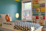 單人床家居擺件兒童床書桌書柜書架書柜簡約風格兒童房裝修圖片簡約風格兒童書房家具圖片效果圖大全