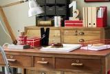 實木家具中式書桌90㎡木制家具裝飾下的書房效果圖