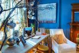 地中海书房书桌90㎡蓝色是知识的海洋效果图欣赏