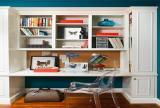 书桌椅凳实木家具现代简约风格书房装修图片现代简约风格简易书架图片装修效果图
