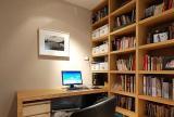 110㎡家居收纳书桌书柜简约白领家居书房装饰装修效果图