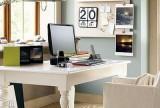 二手房书桌90㎡北欧充足光照条件的书房装修效果图