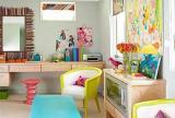 大户型清新自然的书房颜色搭配效果图