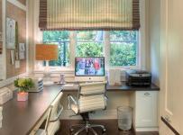 鄉村小戶型書桌小空間大作用的書房設計裝修效果圖