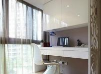 开放式书房实用白色简约阳台书房设计效果图