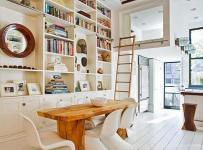 北歐創意生活用品大戶型書桌書柜工作室設計靈感,小思想也能有大書房效果圖